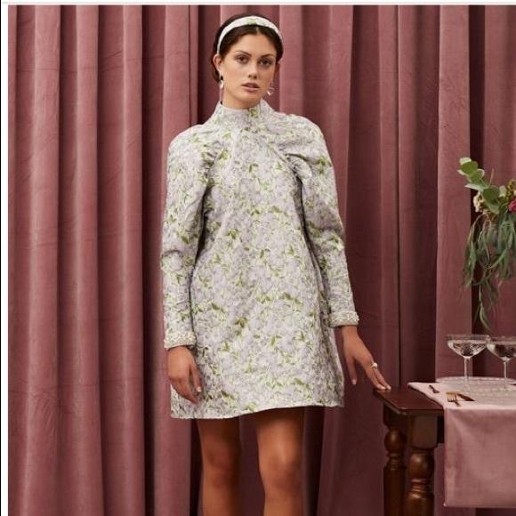 Sister Jane Table Talk Jacquard Mini Dress XS